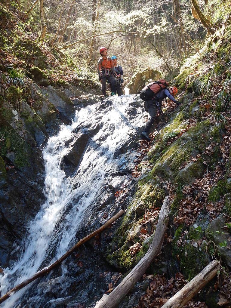 右俣最初に登った滝