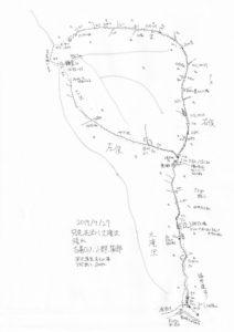 遡行図(布沢川大滝沢)