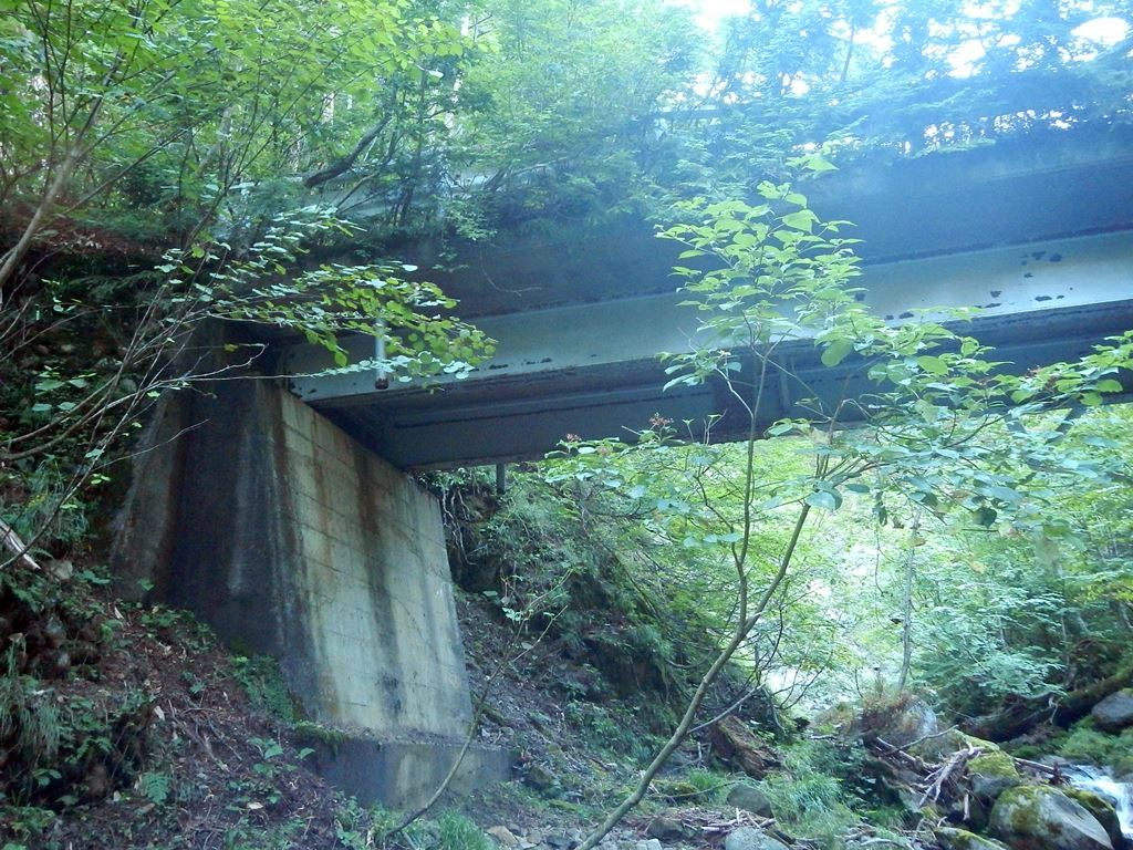火打石沢に架かる旧林道の橋