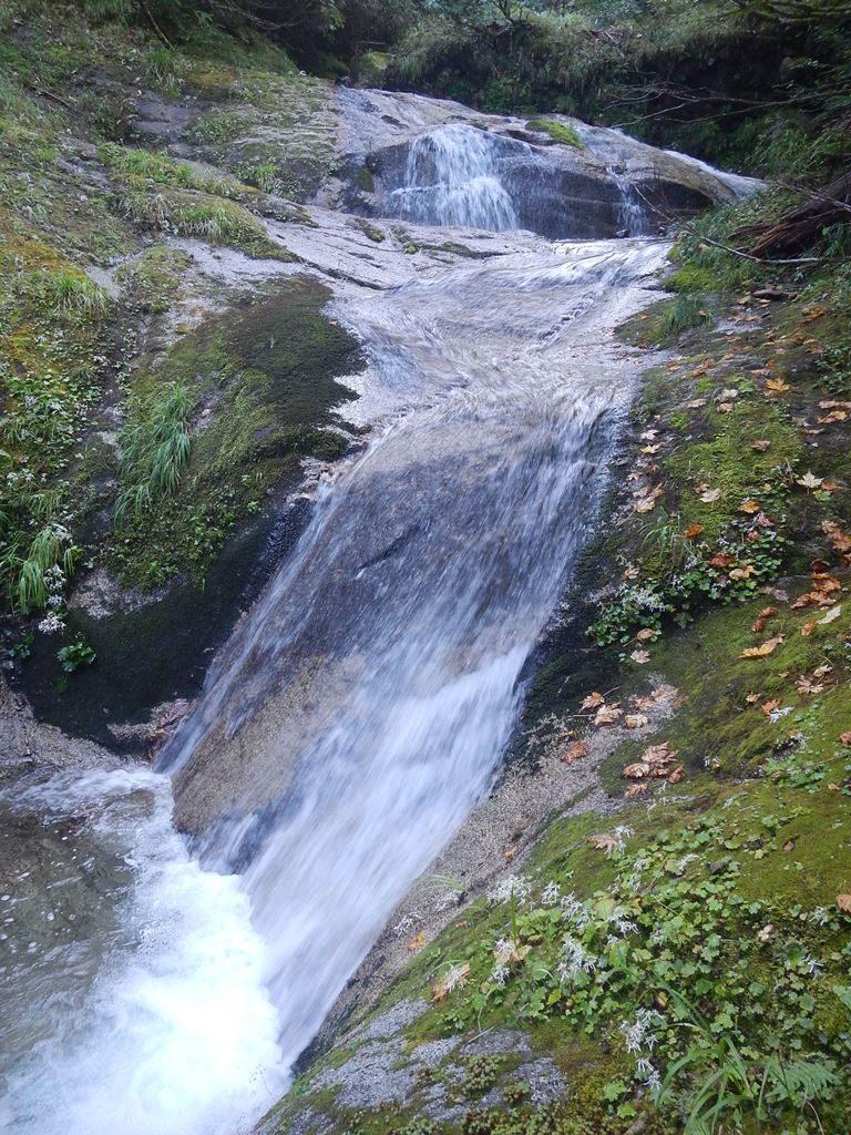 火打石沢上流のスラブ滝