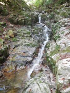 タナ沢下流部トイ状の滝
