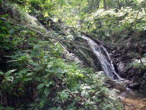奥の二俣手前、双門の滝。