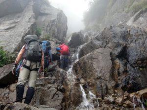 太田切川中御所谷西横川_三俣上部の多段滝
