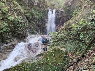 最初の10m滝